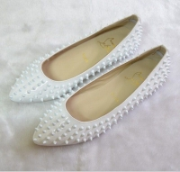 Christian Louboutin White Spiked